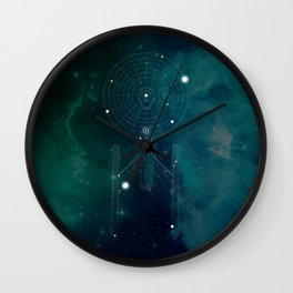 USS Space Ship Constellation Wall Clock