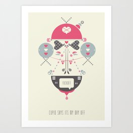 Anti Valentines - Fuck Off Art Print