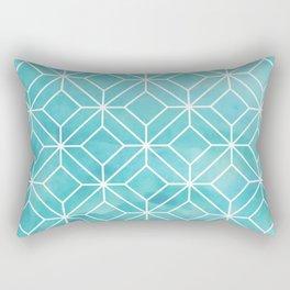 Geometric Crystals: Sea Glass Rectangular Pillow