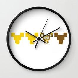 Cute Cartoon Blockimals Giraffe Wall Clock