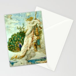 """Gustave Moreau """"The Peacock Complaining to Juno"""" Stationery Cards"""