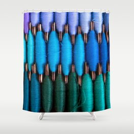 Spools of colorful sewing threads Shower Curtain