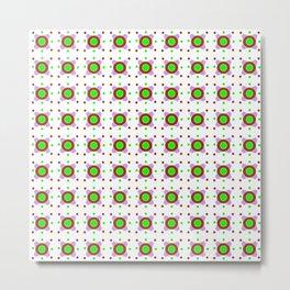 Symmetric patterns 143 Brown, green and purple Metal Print