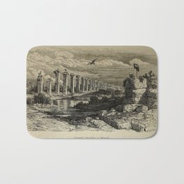 Gustave Doré - Illustration of the Acueducto de los Milagros near Mérida, Spain (1874) Bath Mat