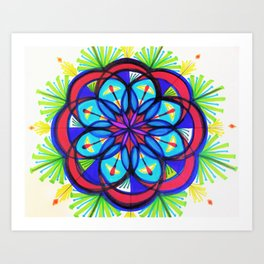Seeing Flower Mandala Art Print