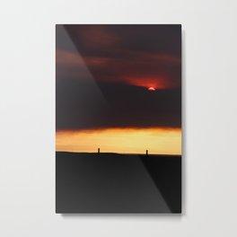Red Horizon Metal Print