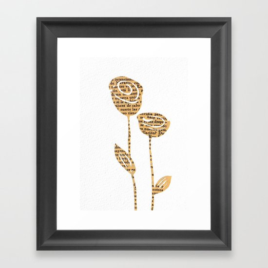 PAPERCUT FLOWER 5 Framed Art Print