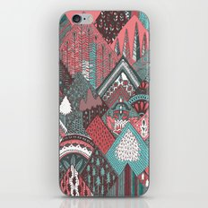 Red mountains iPhone & iPod Skin