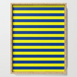 european union flag stripes Serving Tray