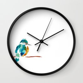 Golden Kingfisher Wall Clock