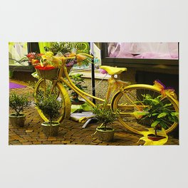 Decorated bicycle Rug