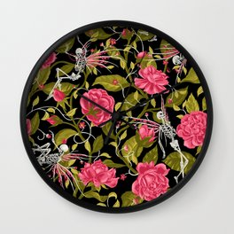 Death of Summer (black and rose) Wall Clock