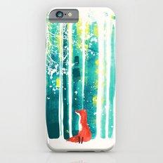 Fox in quiet forest iPhone 6s Slim Case