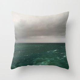 Stormy Winter Seas Throw Pillow