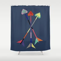 arrows Shower Curtains featuring Arrows by Bridget Davidson