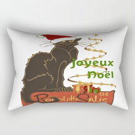 Joyeux Noel Le Chat Noir Christmas Parody Rectangular Pillow