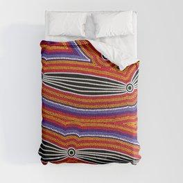 Authentic Aboriginal Art - Neurum Creek Bush Tracks Comforters