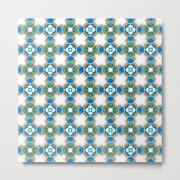 Blue Kaleidoscope - Moroccan Style Design Metal Print