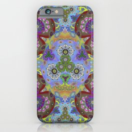 Passion Petals Retro Groovy Kaleidescope Psychedelica Print iPhone Case