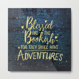 Blessed Bookish Metal Print