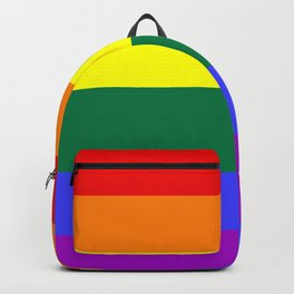 Gay pride flag Backpack