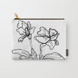 Mason Jar Flowers Carry-All Pouch