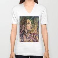 phoenix V-neck T-shirts featuring phoenix by Beth Jorgensen