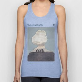 Emily Brontë Wuthering Heights - Minimalist literary design Unisex Tank Top