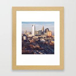 Queen City Shower Curtain Framed Art Print