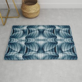 Blue&Grey Abstract Pattern Rug