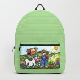 Farmer Fluffy at Harvest Time Backpack