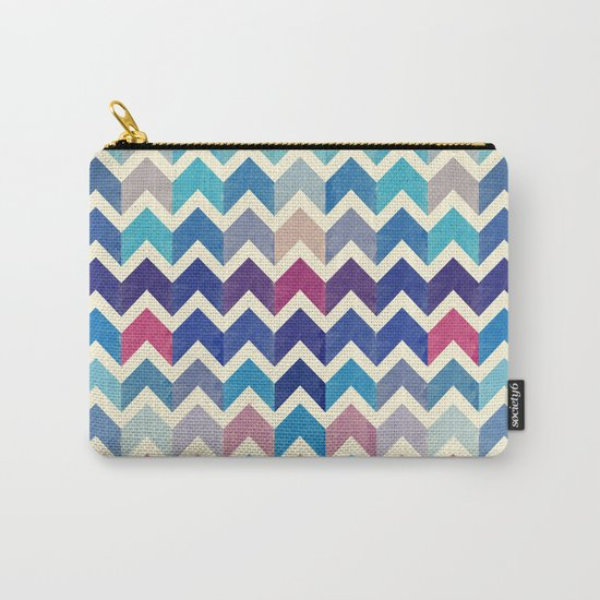 Chevron Pattern VIII Carry-All Pouch