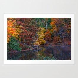 Autumn Foliage at Loch Raven Reservoir Art Print