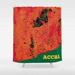 Accra, Ghana street map Shower Curtain