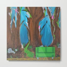 Fairy, Fairies. Abstract. Original Painting. Forest. Fantasy Forest. Fantasy. Jodilynpaintings. Metal Print