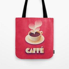 Art Deco Vintage Retro Coffee - Red Tote Bag