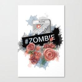 #zombie Canvas Print