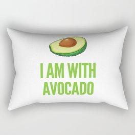 I Am With the Avocado Funny Halloween Rectangular Pillow