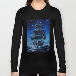 Black Pearl Starry Night Long Sleeve T-shirt