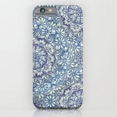 Indigo Medallion with Butterflies & Daisy Chains iPhone 6s Slim Case