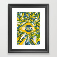 Abstract Brazil Framed Art Print