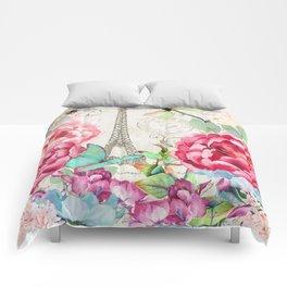 Paris Flower Market garden art Comforters