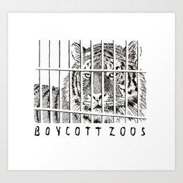 Boycott Zoos Art Print