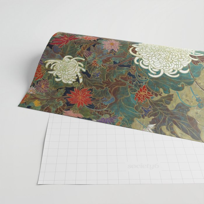 flower【Japanese painting】 Wrapping Paper