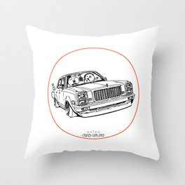 Crazy Car Art 0203 Throw Pillow
