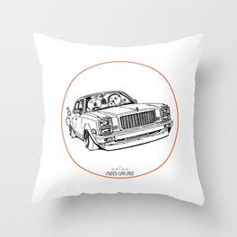 Crazy Car Art 0203 Throw Pillow