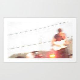 Albert Hammond Jr. Blur - The Strokes Art Print