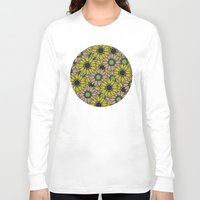 sunflowers Long Sleeve T-shirts featuring Sunflowers by Anna McKay