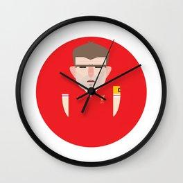 Steven Gerrard Liverpool Illustration Wall Clock