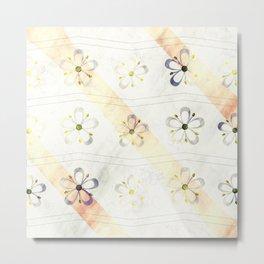 Flower decent pattern Metal Print